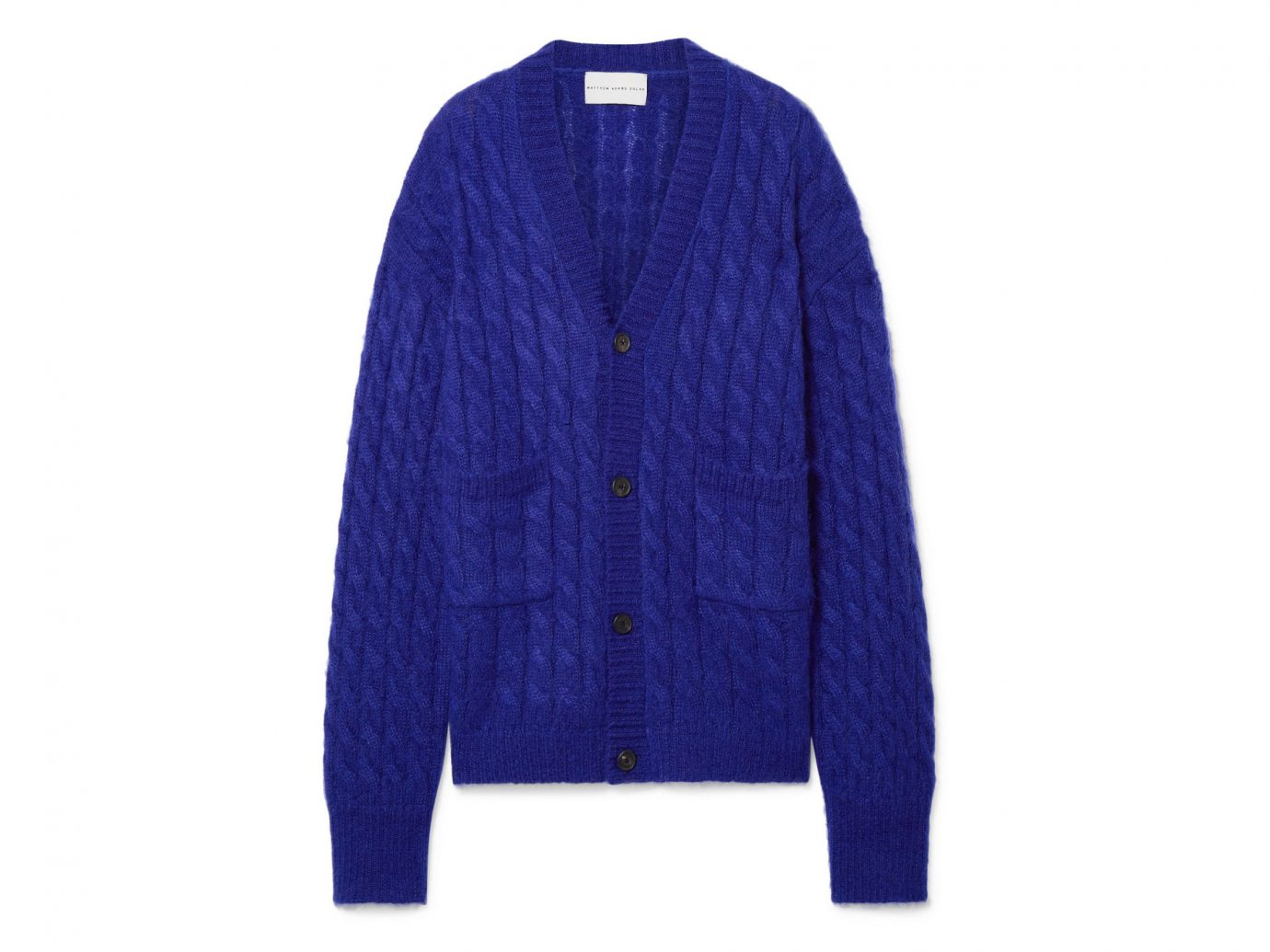 Matthew Adams Dolan Oversized Cable-Knit Cardigan