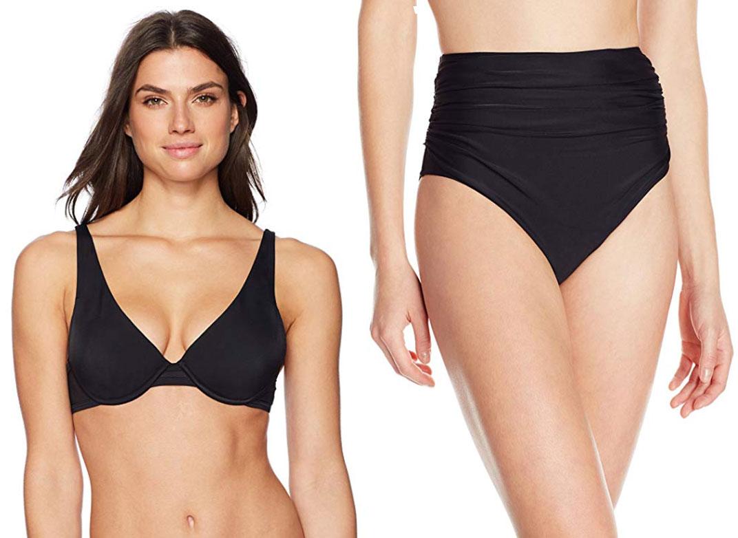 Coastal Blue Mesh Sides Underwire Bikini Top
