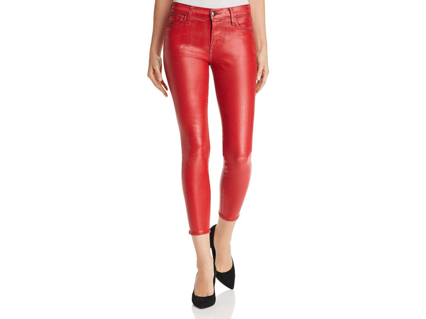 J Brand 835 Coated Capri Skinny Jeans in Phenomena