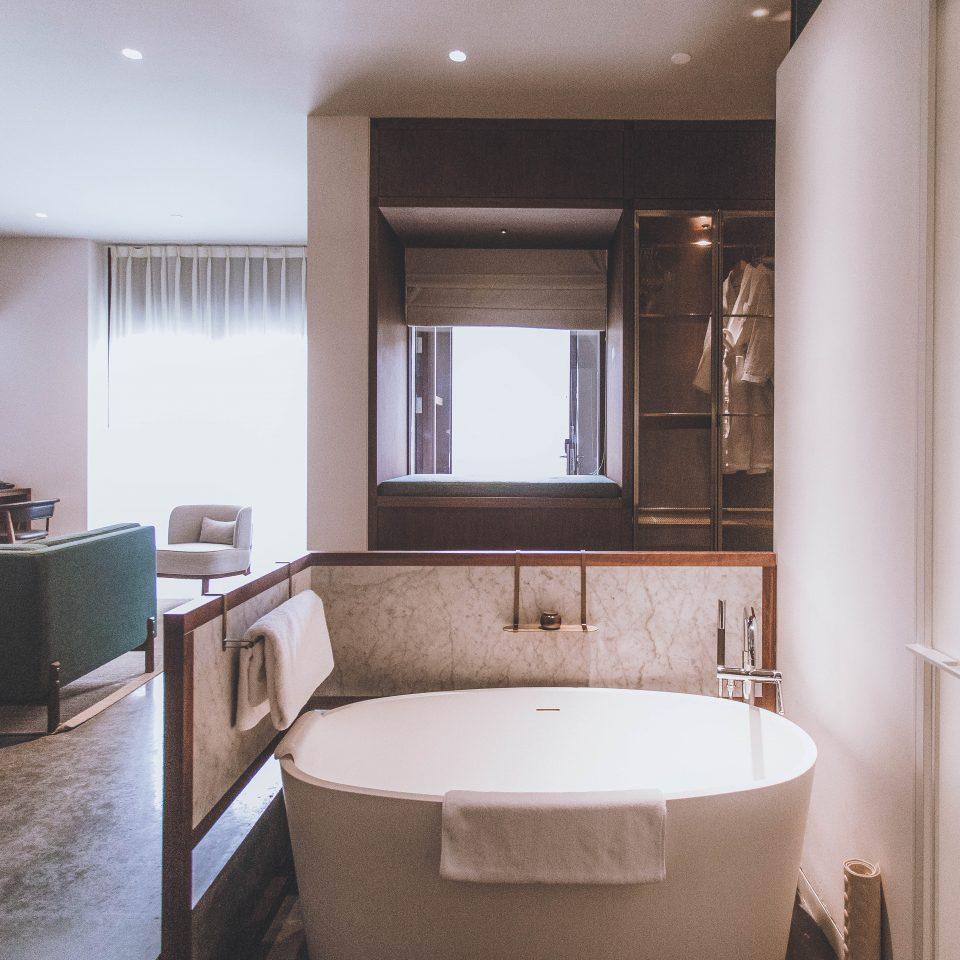 large bathtub in bathroom