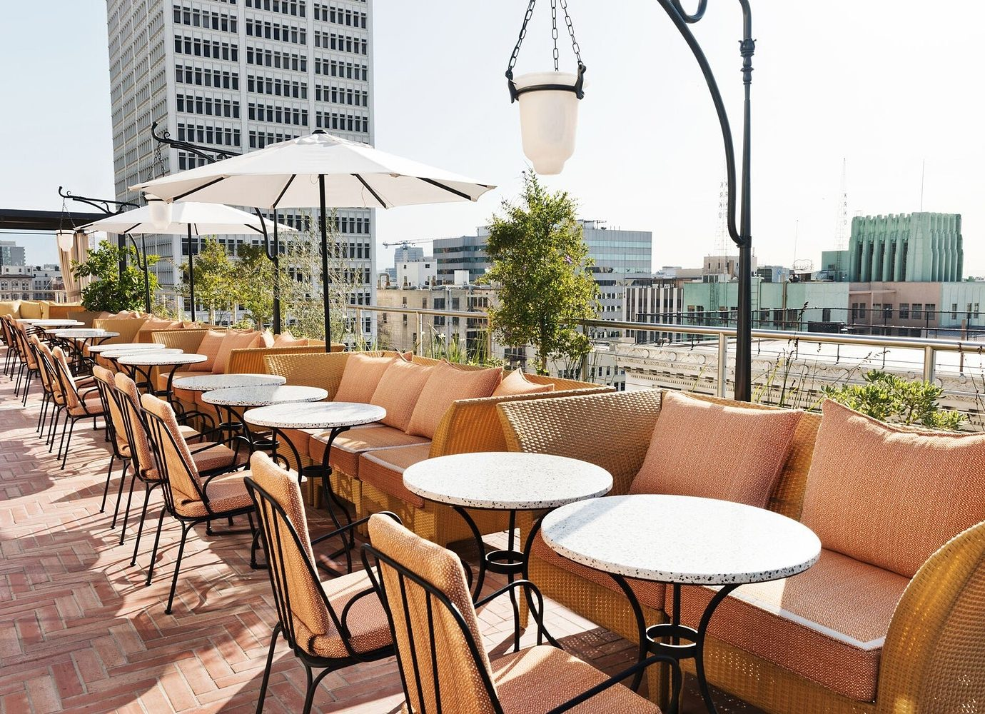 outdoor restaurant at The NoMad Hotel Los Angeles
