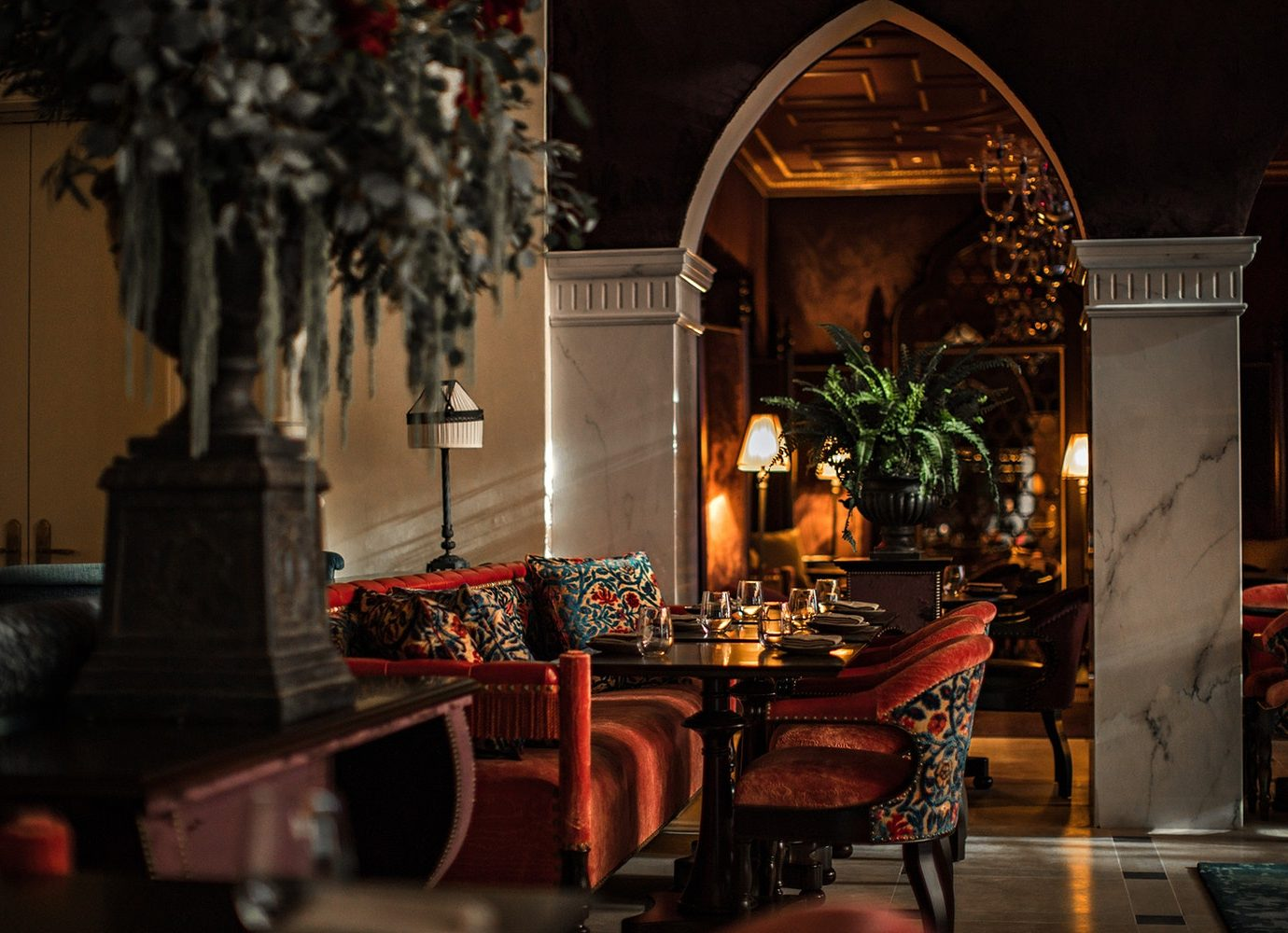 elegant lounge/bar at The NoMad Hotel Los Angeles