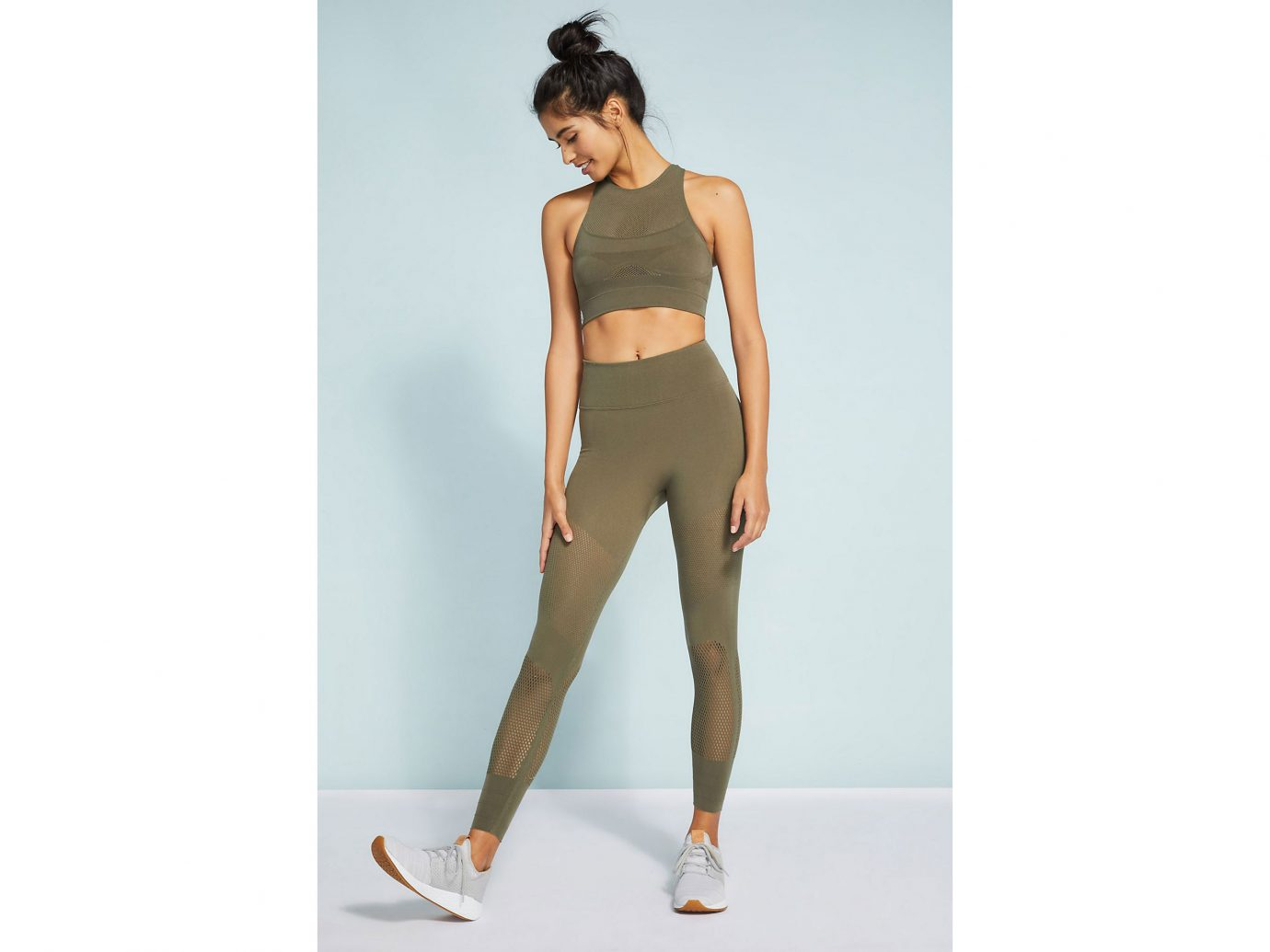 Free People Movement High-Rise Self-Hem Sculpt Mesh Leggings