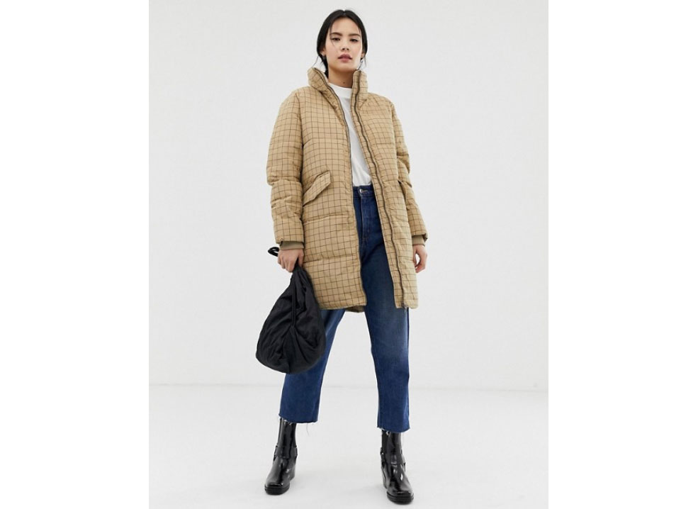 Ichi Check Padded Coat