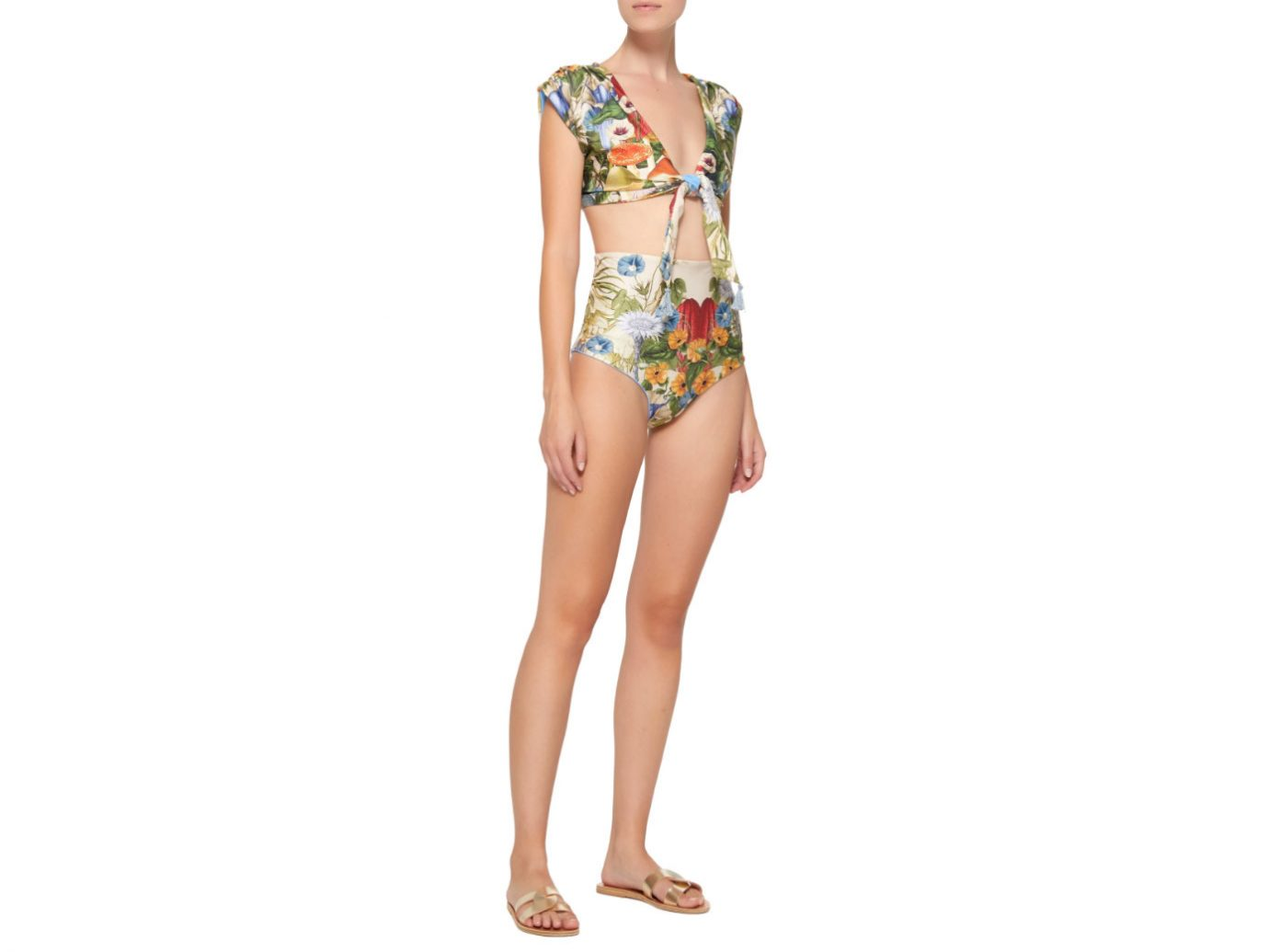 Carolina K Nina Reversible High-Waisted Bikini Set