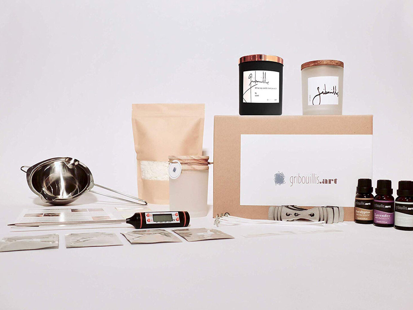 Gribouillis Soy Candle-Making Starter Set