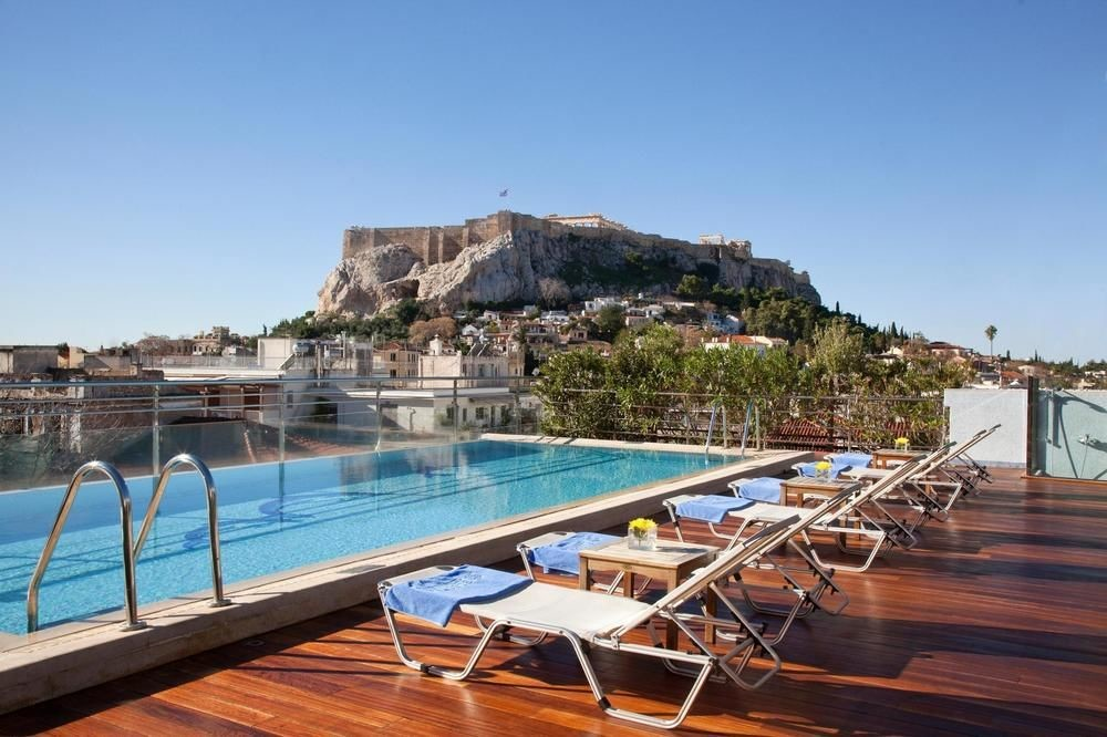 Pool view of Electra Palace Athens