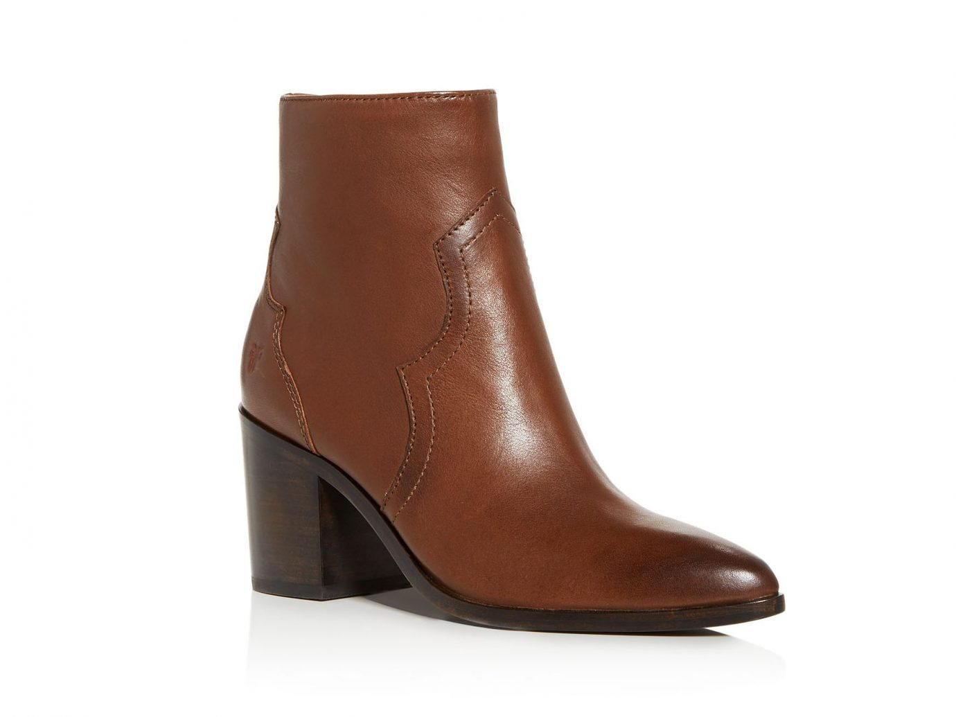 Frye Women's Flynn Leather Western Block-Heel Booties