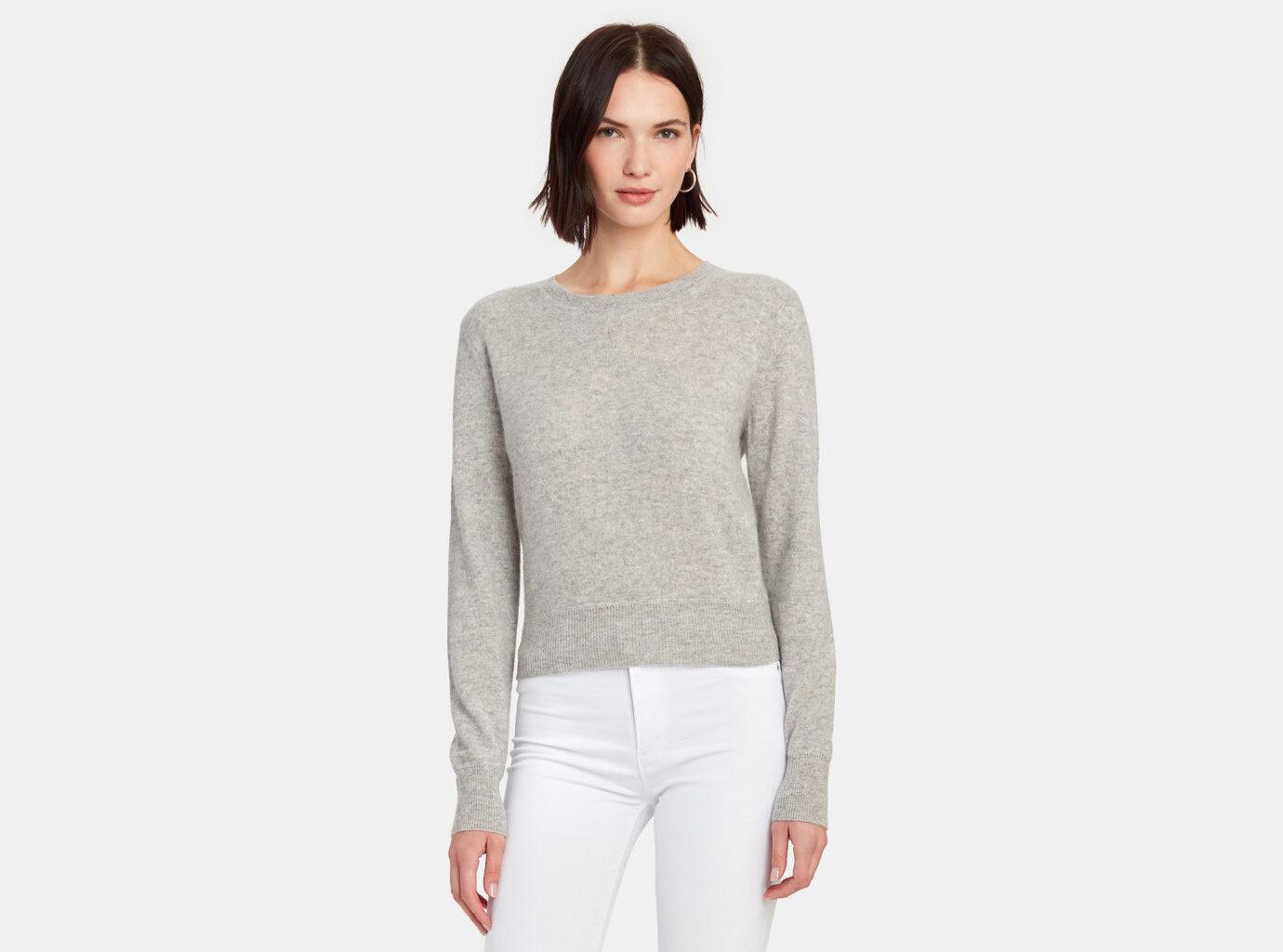 Naadam Cropped Crewneck Sweater