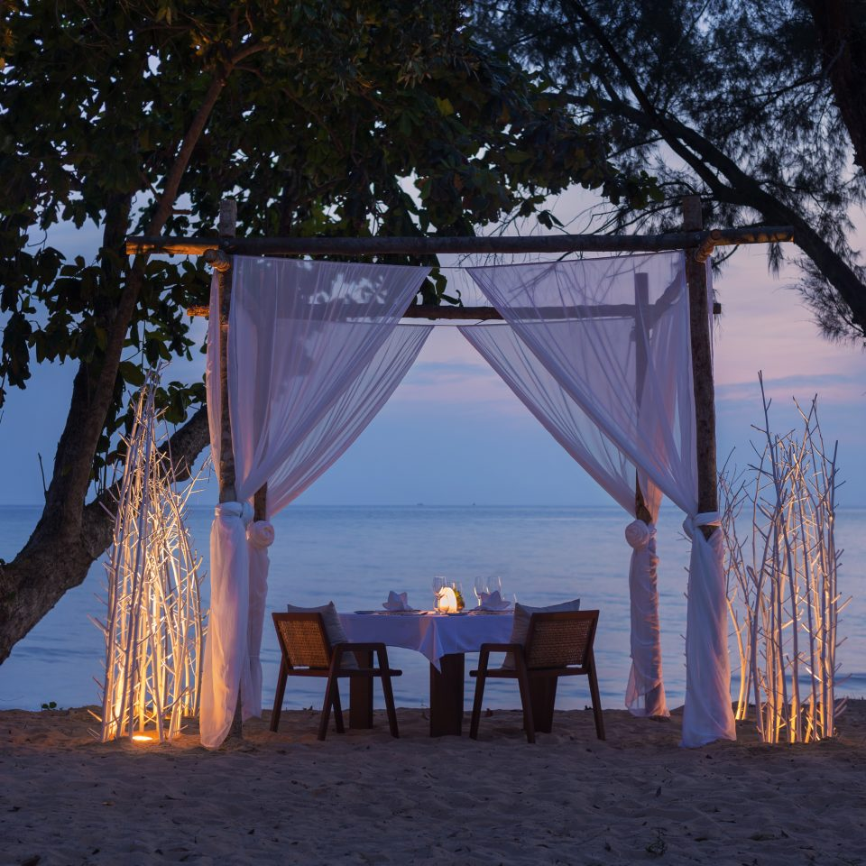 private dining experience right next to the water