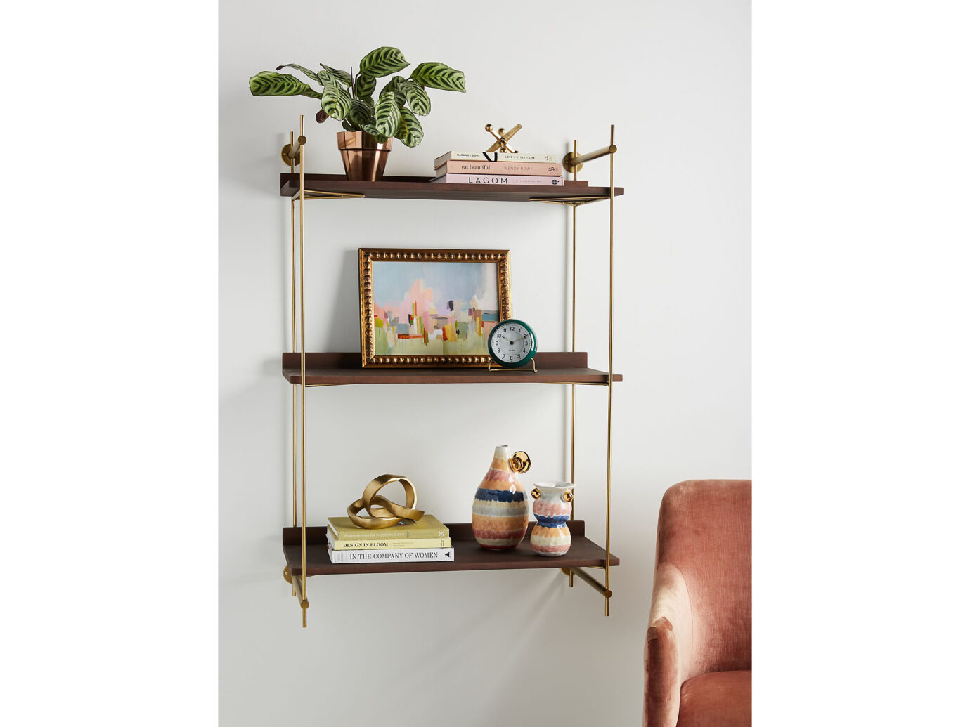 Anthropologie Astoria Wall Mounted Shelving Unit