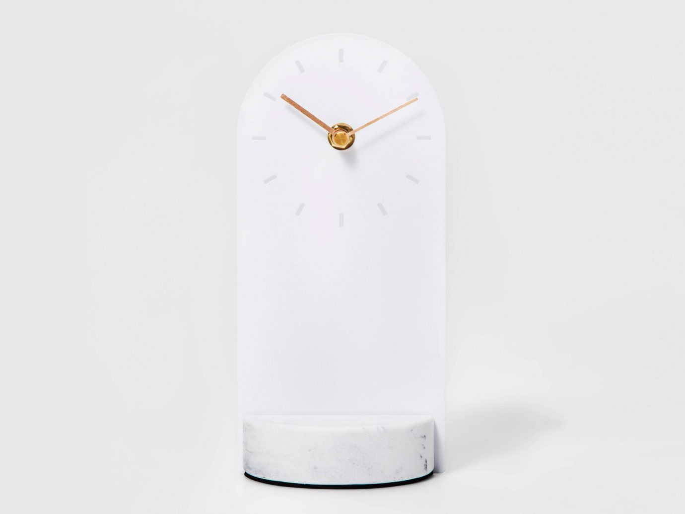 Metal & Marble Desk Clock