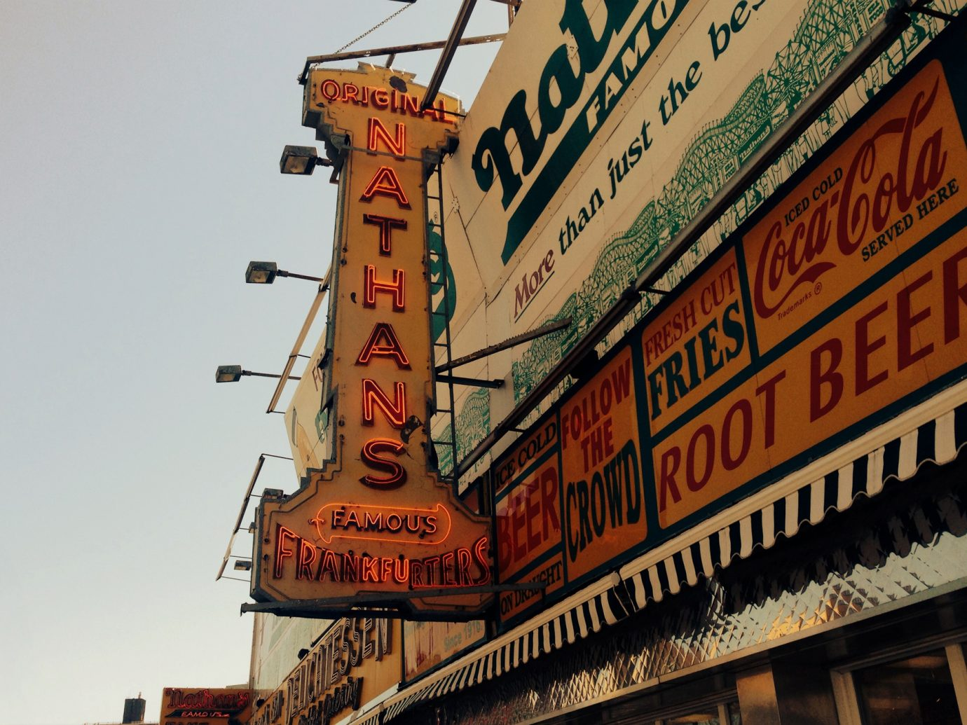 exterior of Nathan's on Coney Island
