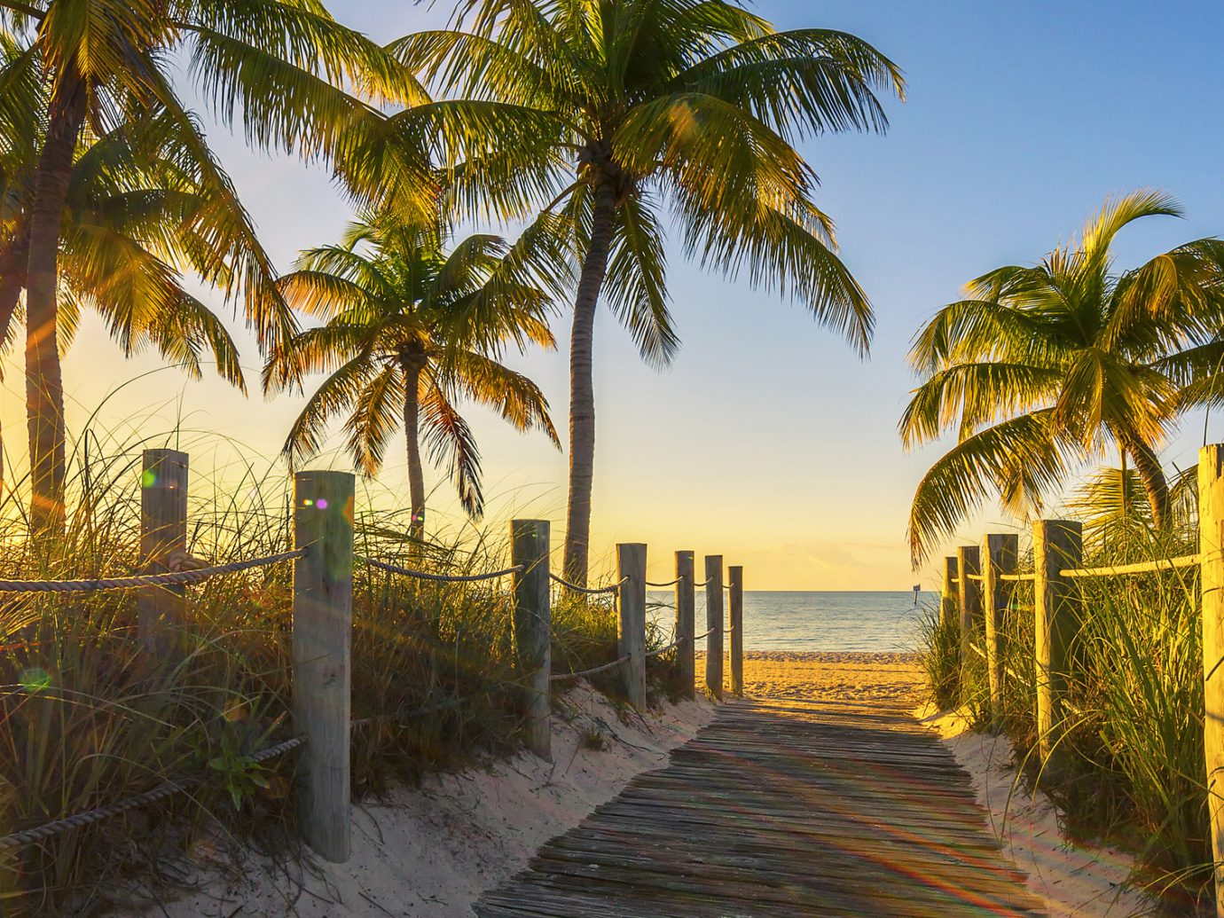 Passage to the beach at sunrise- Key West, USA