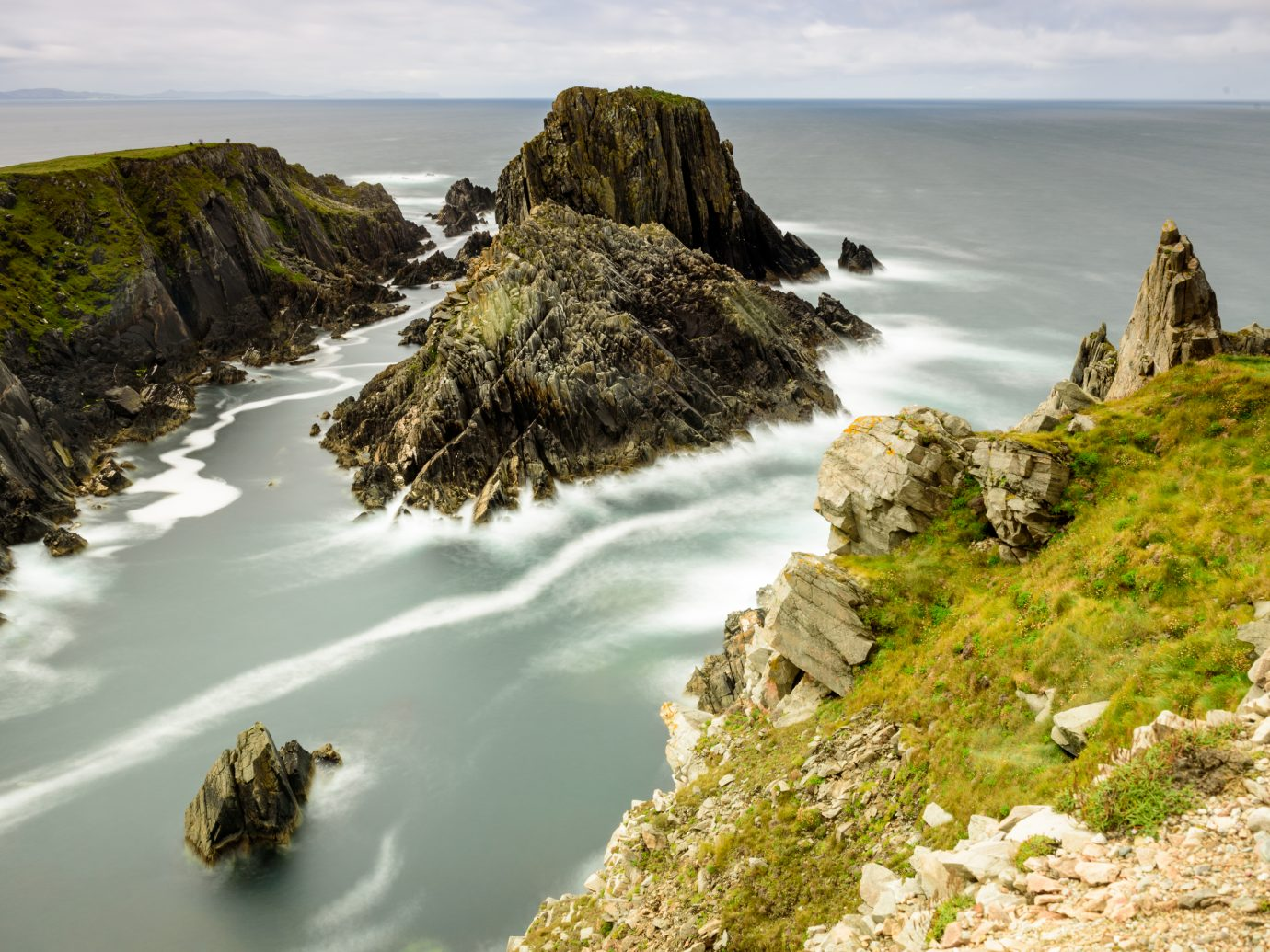 Malin Head rocks in Republic of Ireland