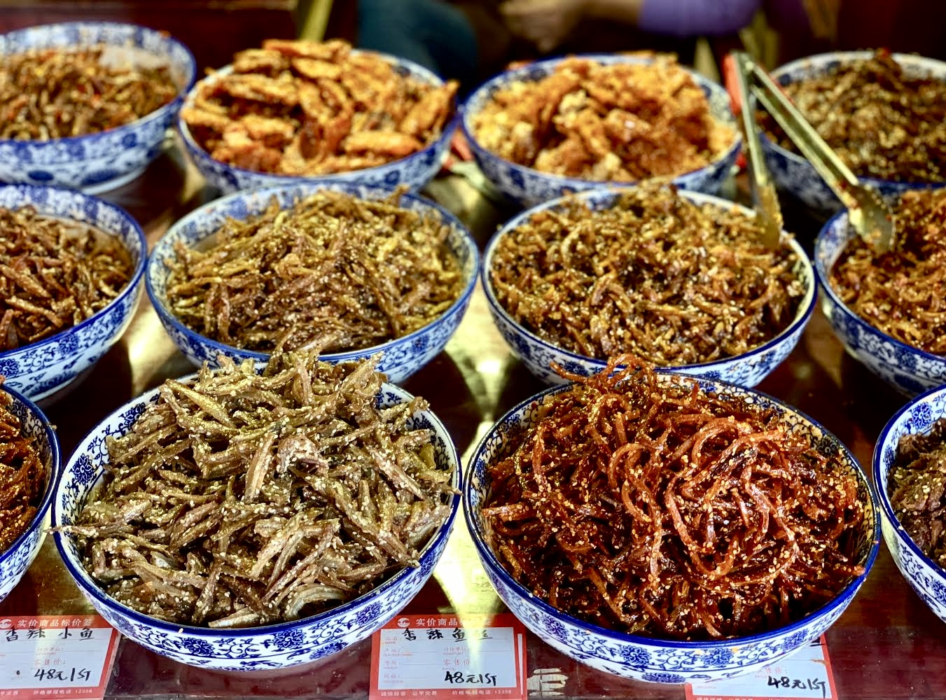 Food from an open market in China