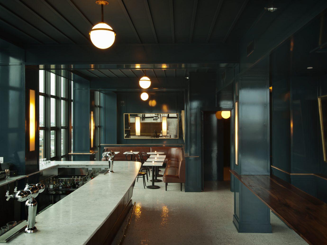 empty sleek bar interior