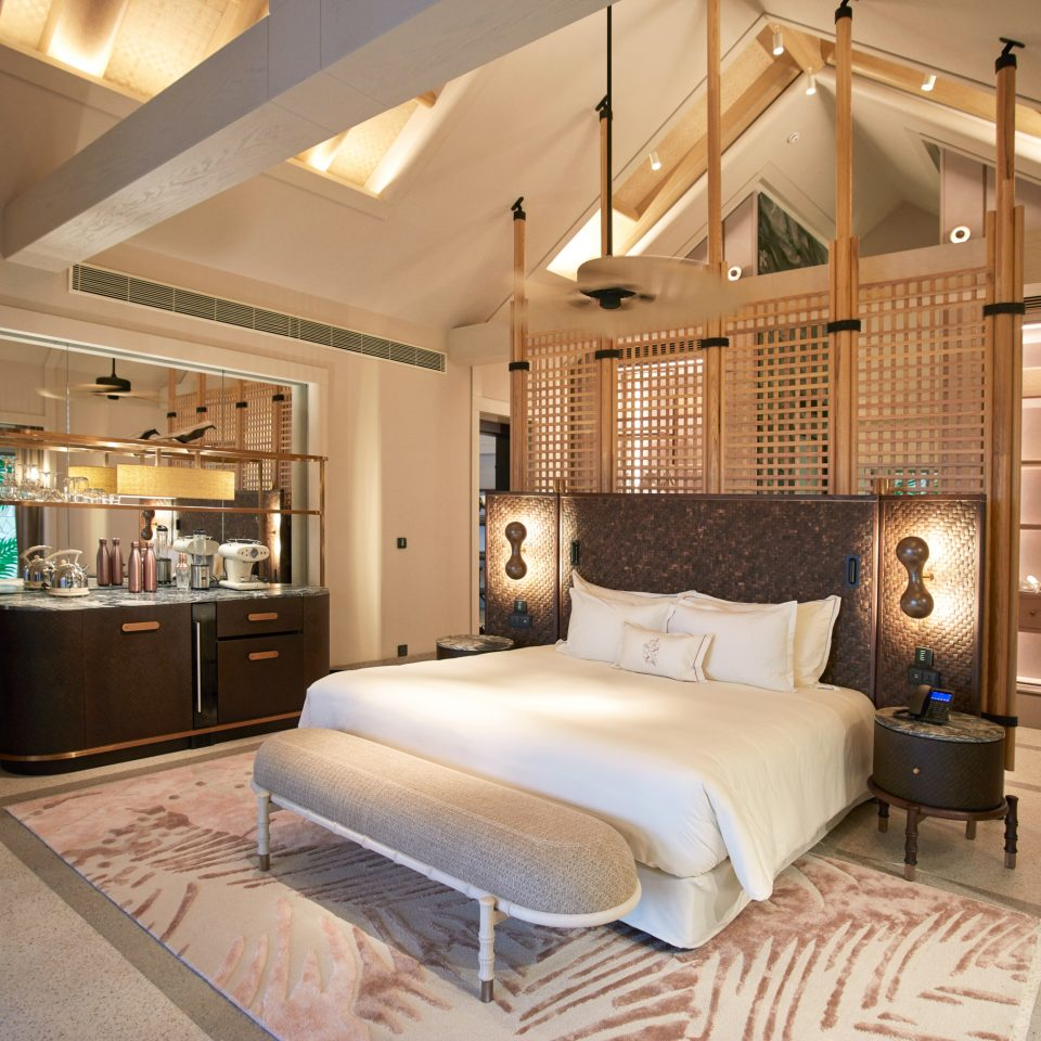 king size bedroom inside villa