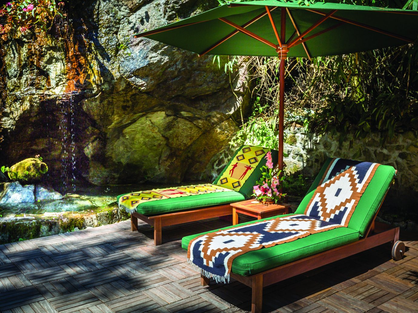 Lounge chairs at Belmond Sanctuary Lodge
