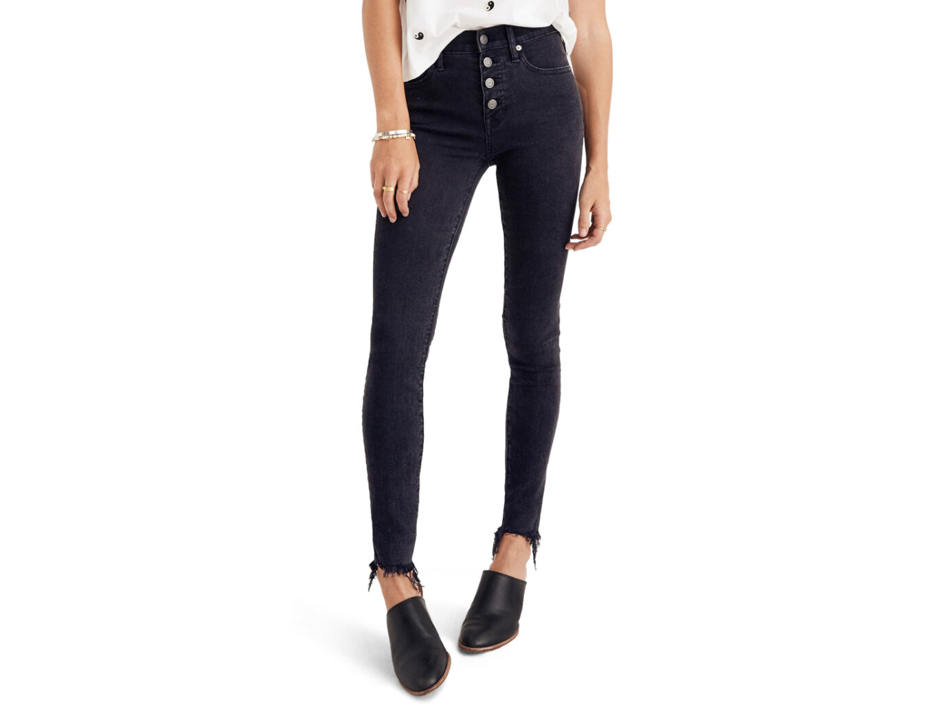 Madewell 9-Inch Button Ankle Skinny Jeans