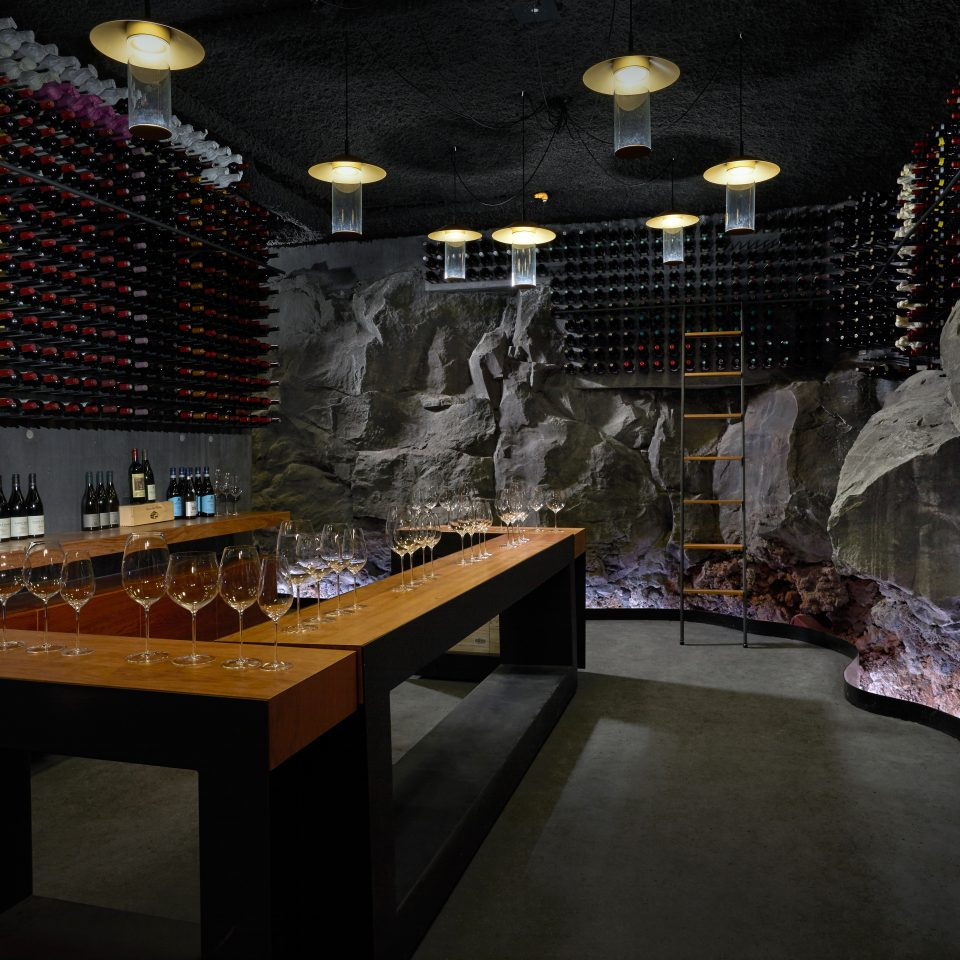 wine cellar made from rock