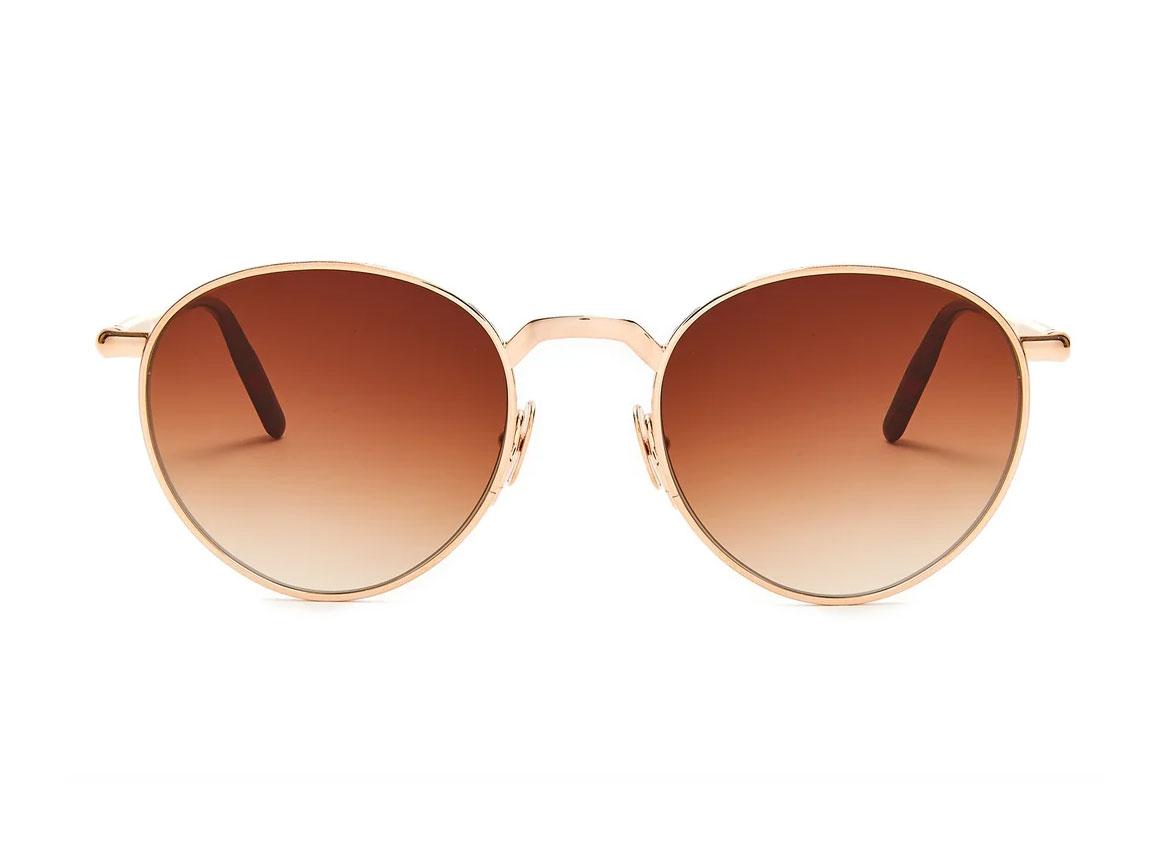 John Dalia Ernest H. round-frame pale-gold sunglasses