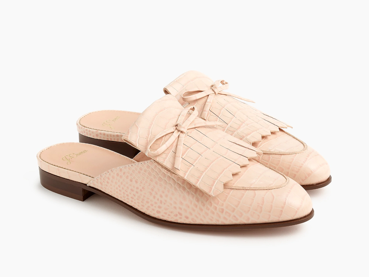 J.Crew Kiltie Academy Penny Loafer Mules