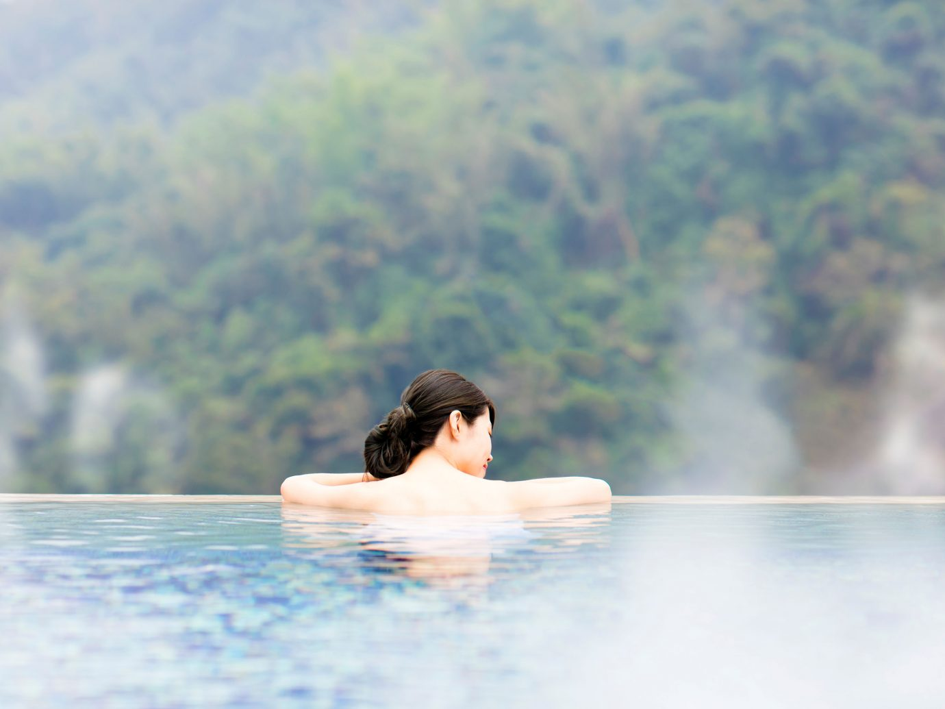Woman in a Japanese onsen