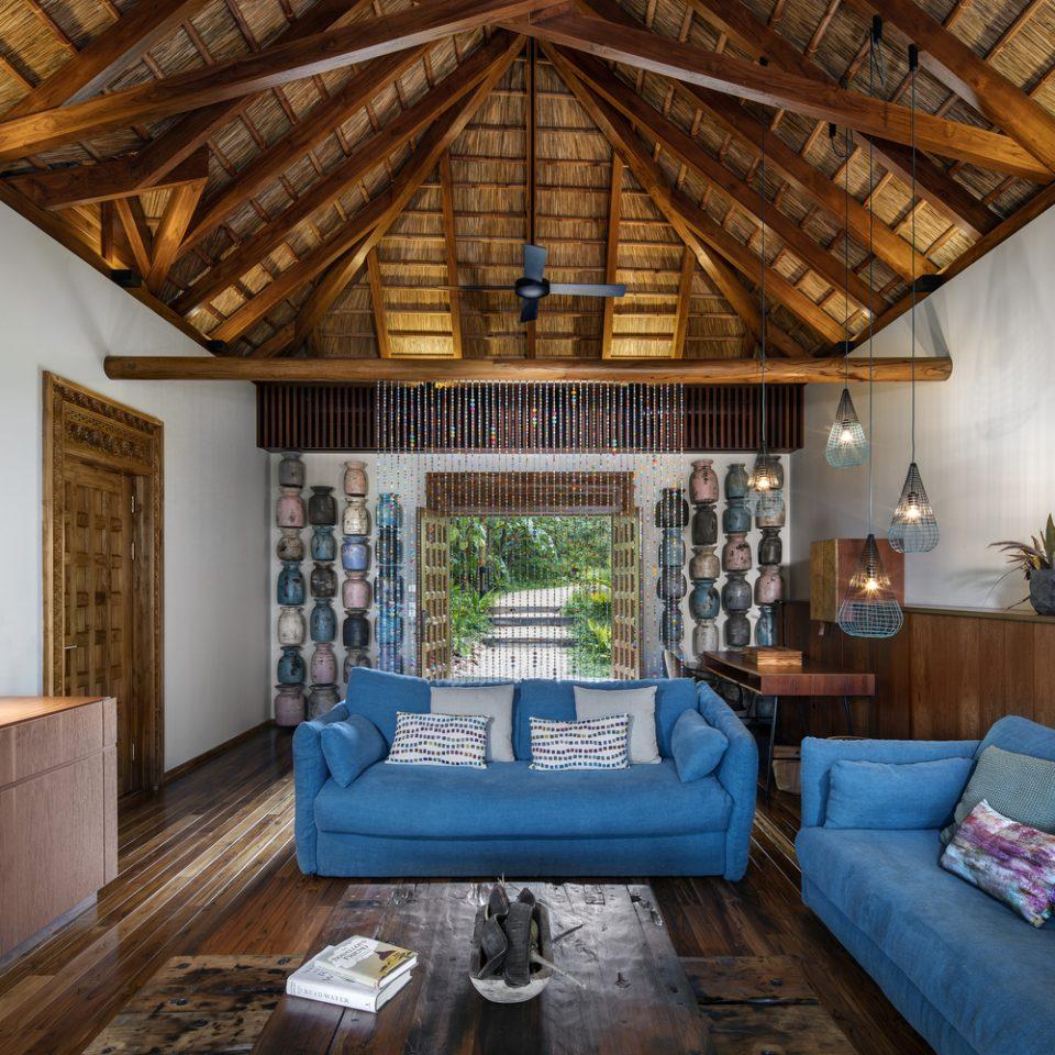 living room inside a suite