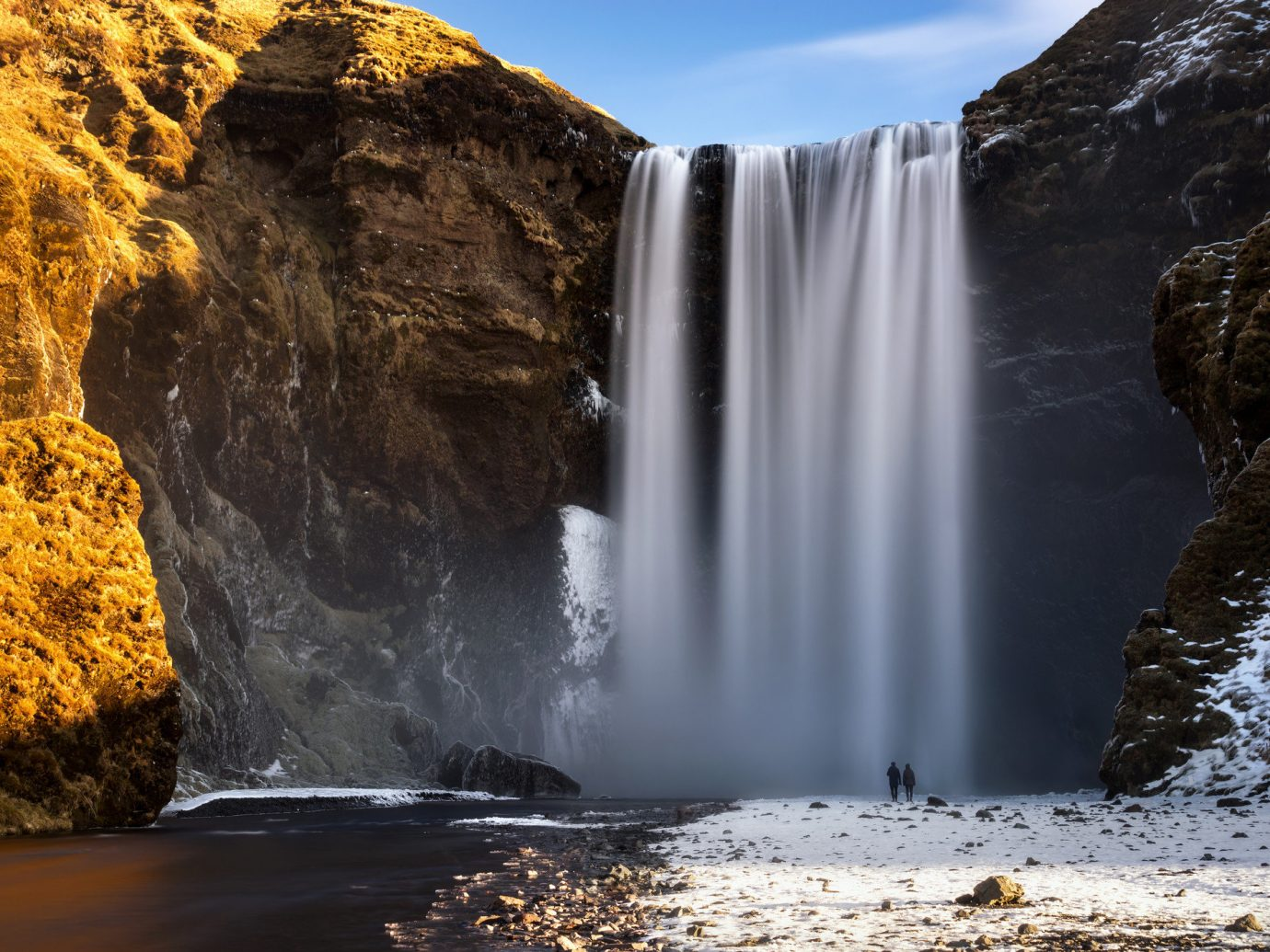 View of a waterfall in Iceland