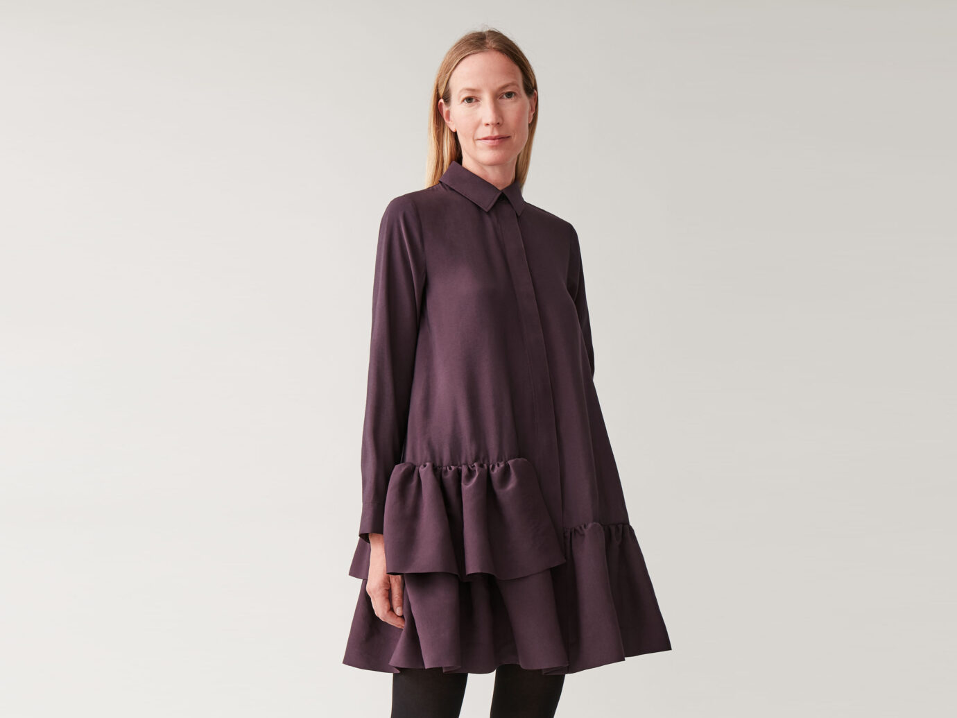 COS Frilled Shirt Dress