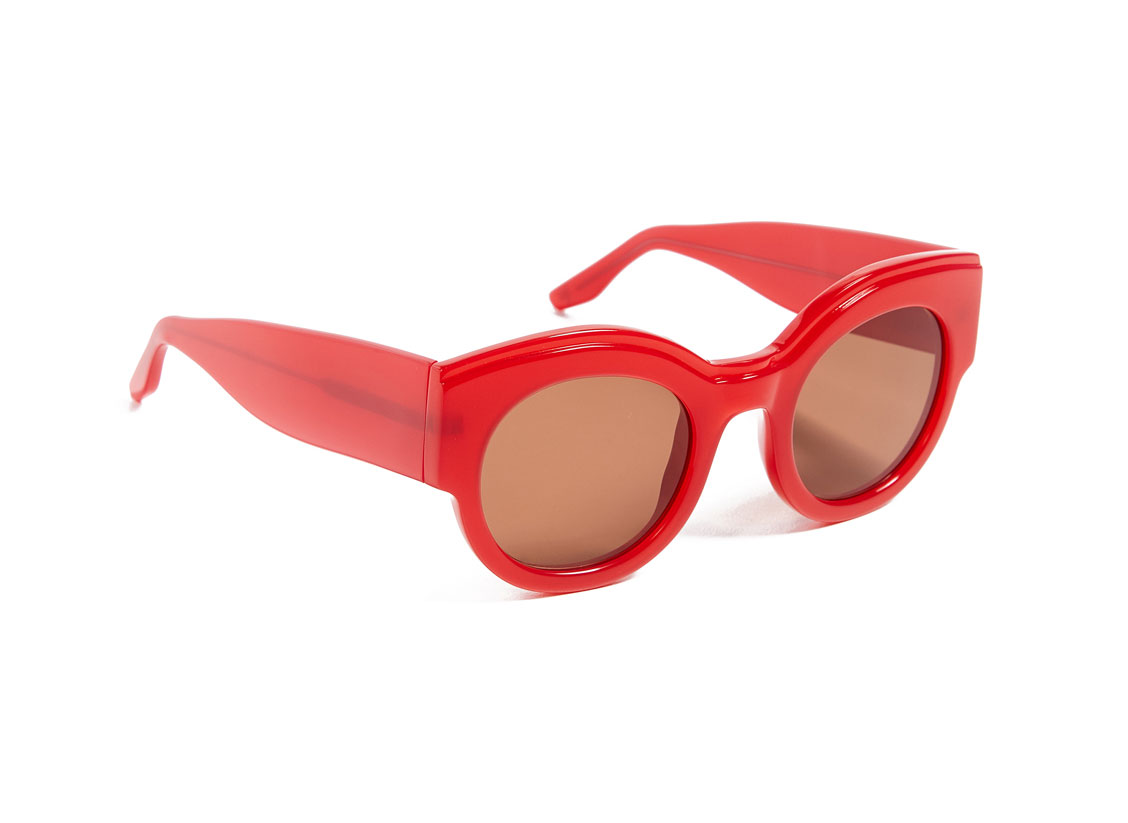 GANNI Billie Sunglasses red