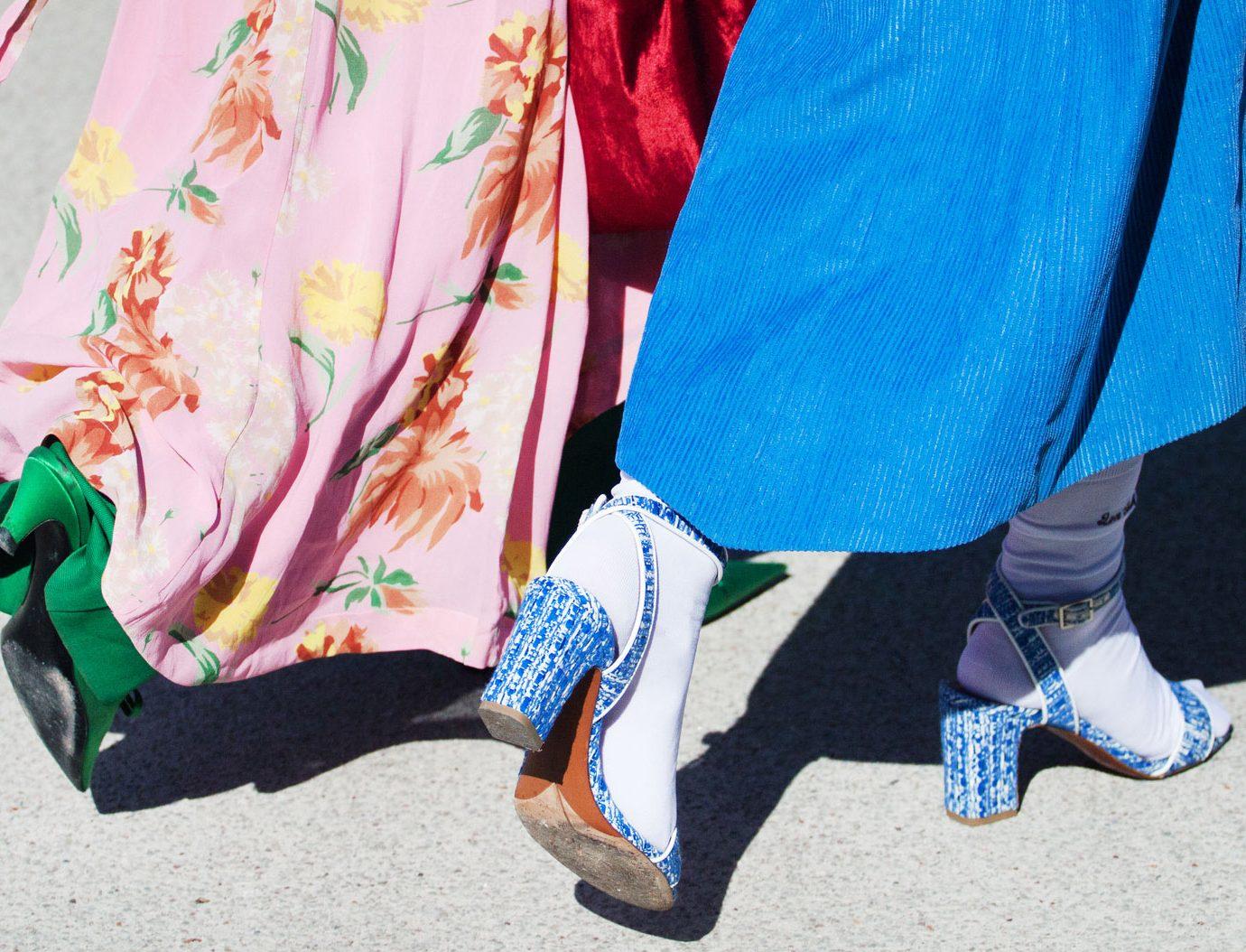 stylish girls shoes and dresses
