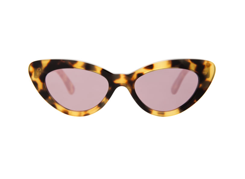 Illesteva Pamela Kid Sunglasses Tortoise with Blush Flat Mirrored Lenses