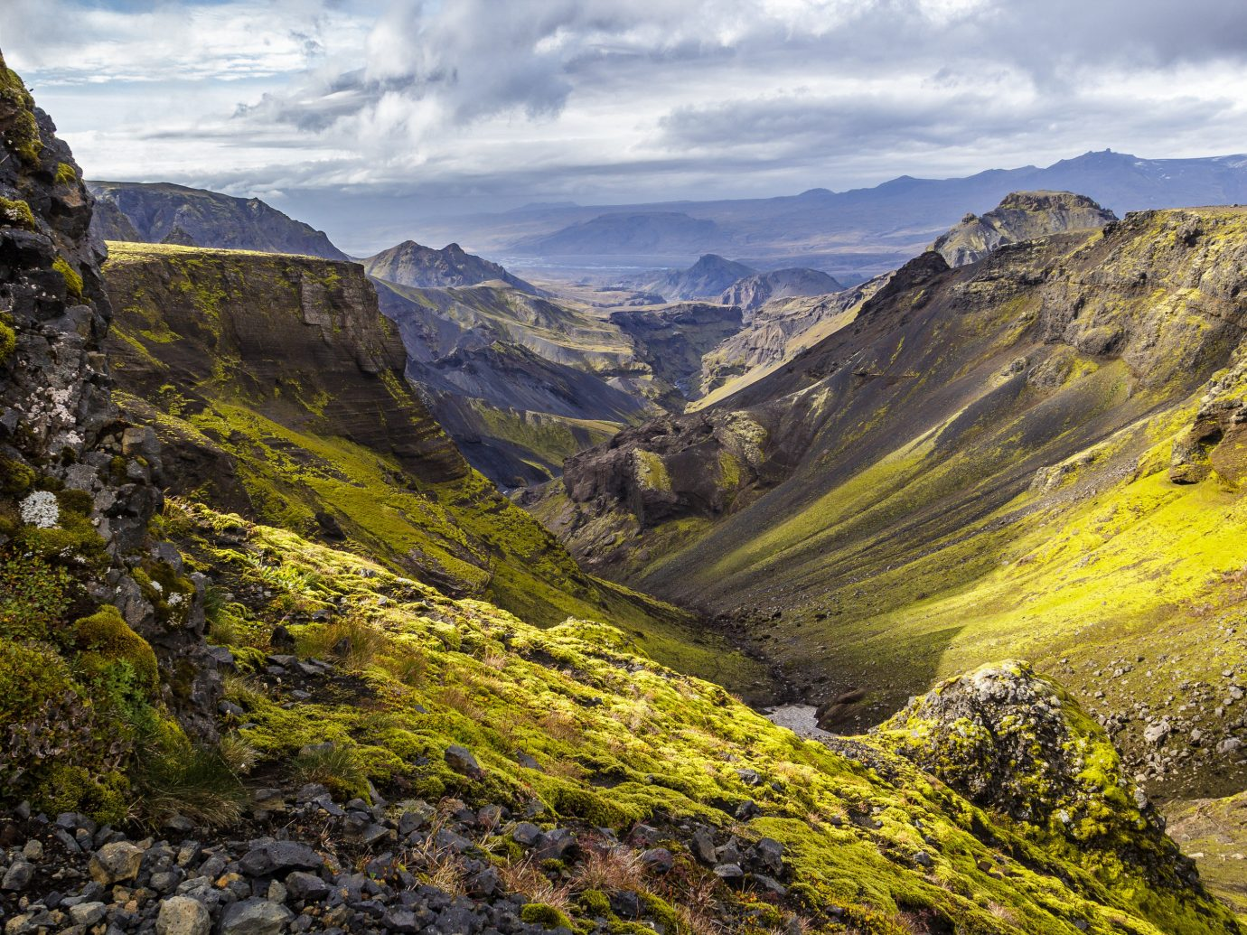 View of a valley in Iceland
