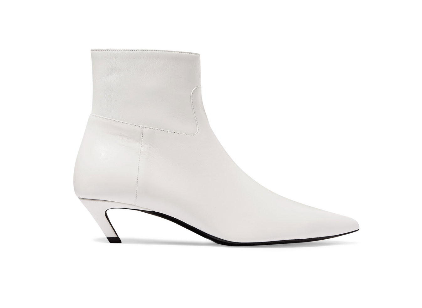 Balenciaga Talon Slash Leather Ankle Boots