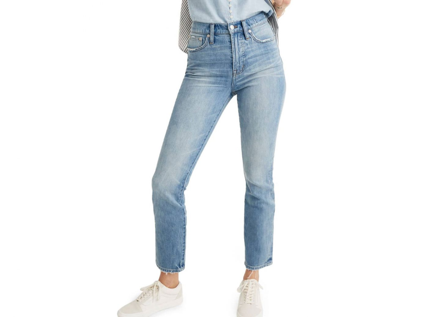 Madewell The Perfect Vintage Heart Patch High Waist Jeans