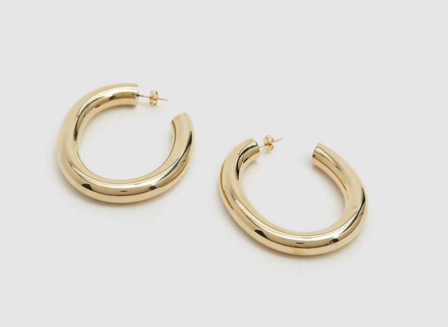 Laura Lombardi Curve Hoop Earrings
