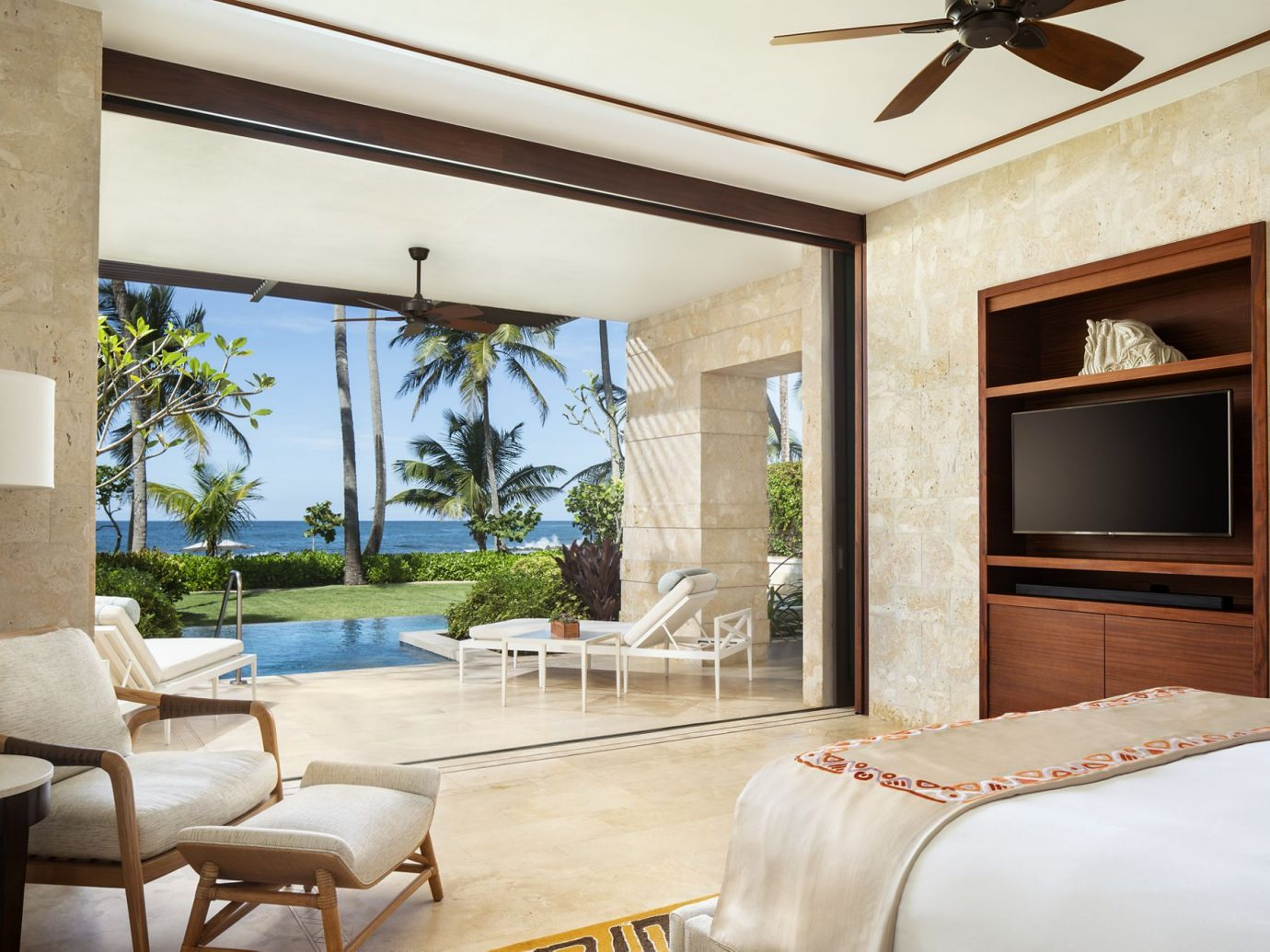 Bedroom of Dorado Beach in Puerto Rico