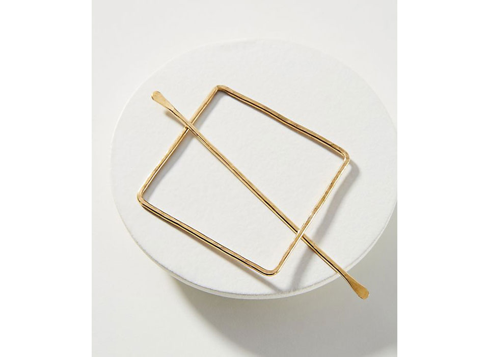 Anthropologie Square Slide Hair Pin