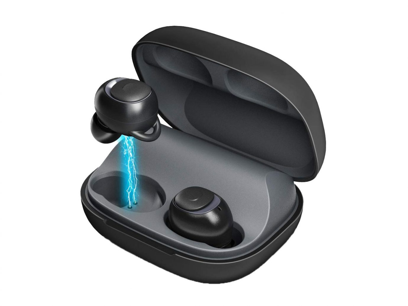 MEBUYZ Bluetooth 5.0 Noise Canceling Wireless Earbuds Headphones