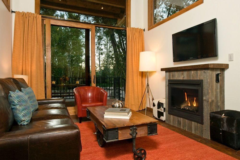 Living room at Fireside Resort