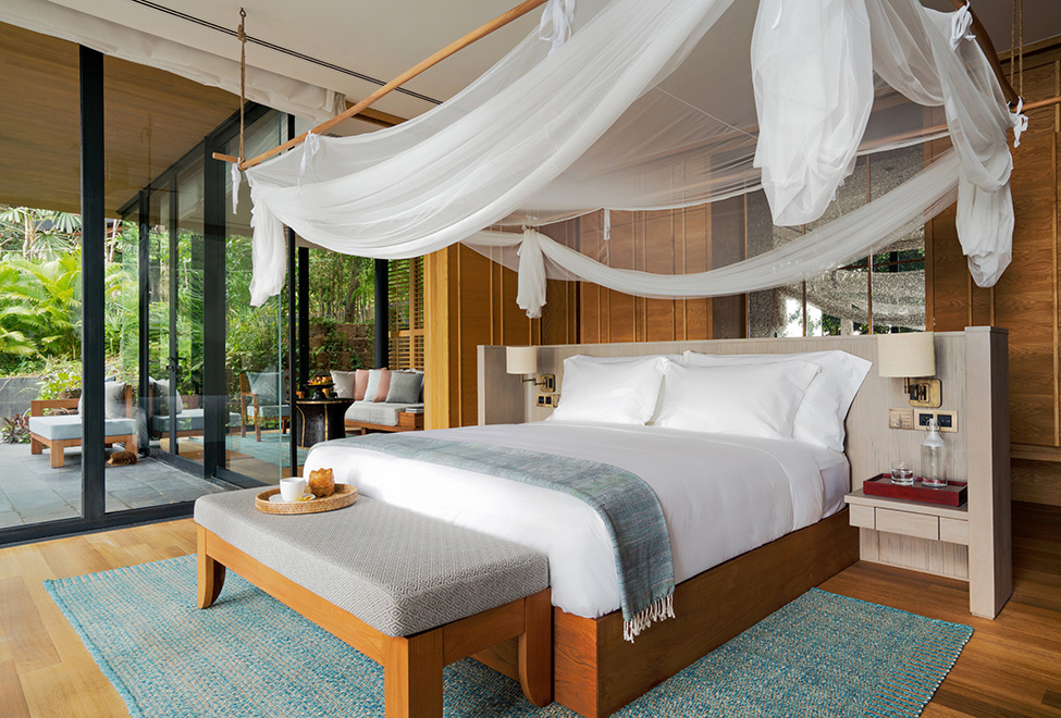 Bedroom of Six Senses Krabey
