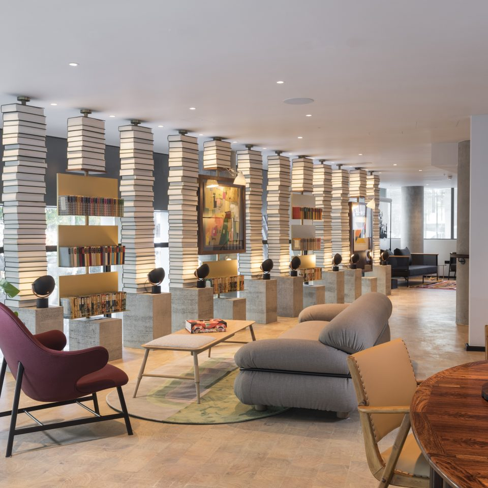 mezzanine area in Bankside Hotel