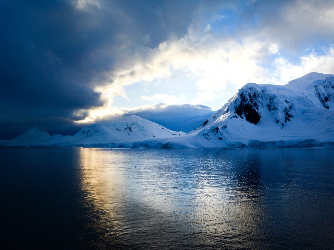 Dramatic Sunset in Antarctica