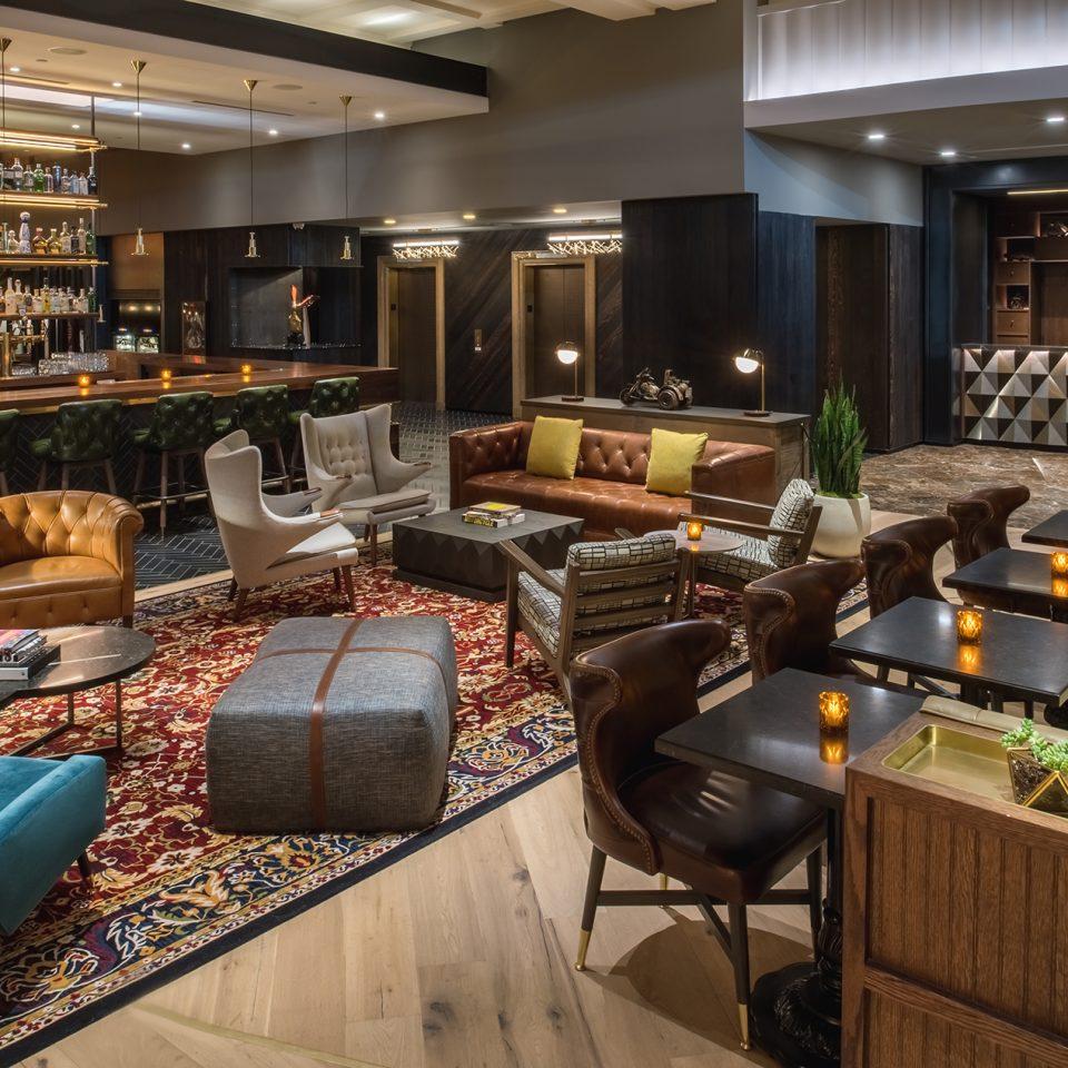 stylish lobby space