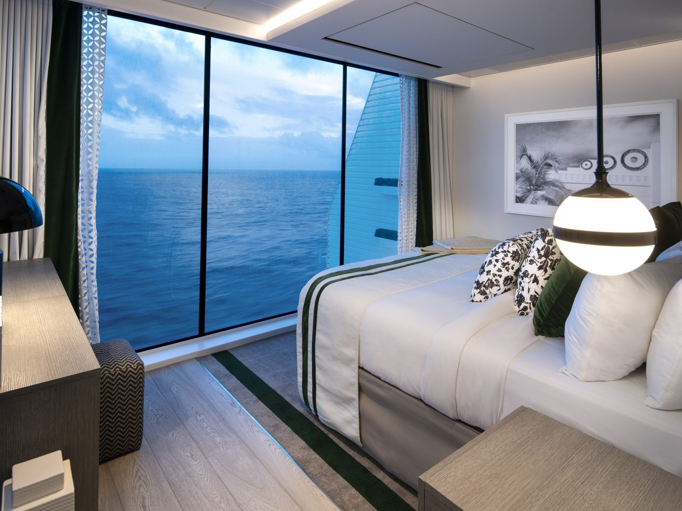 Bedroom of Edge Villa at Celebrity Cruises