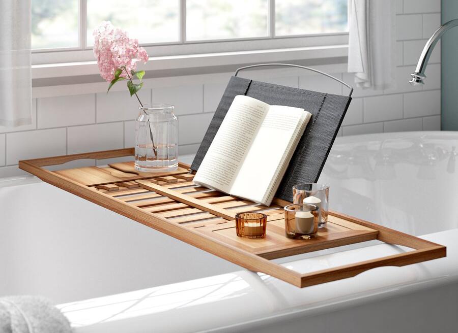 Rebrilliant Gardner Bamboo Bath Caddy