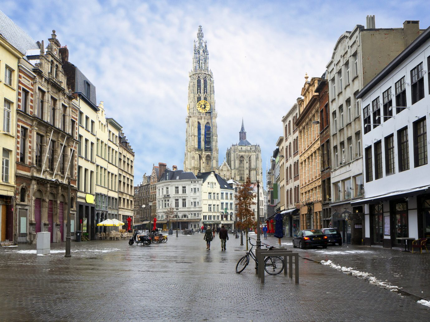 View of The Cathedral of our lady in Antwerp