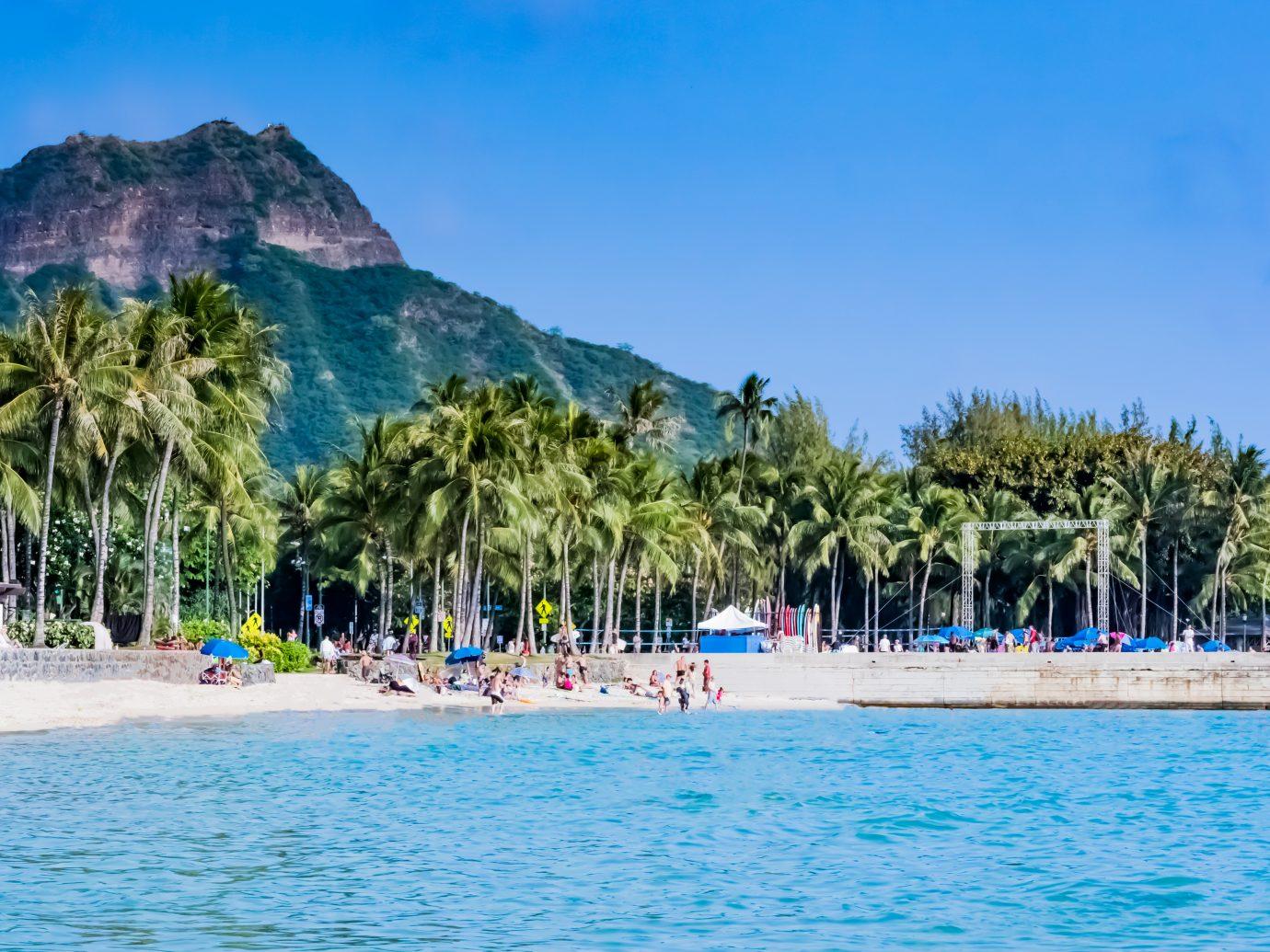 Diamond Head in Waikiki beach